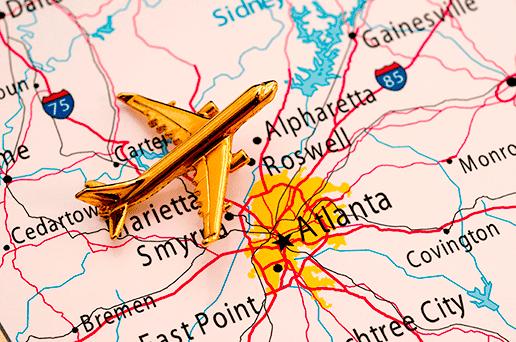 Map of cities in Georgia