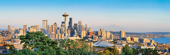 Seattle, Washington skyline to inspire entrepreneurs to start a Washington LLC