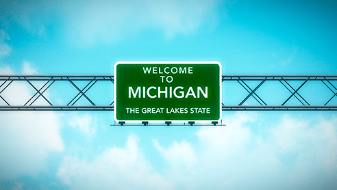 Welcome to Michigan sign to inspire people to start their LLC in Michigan.